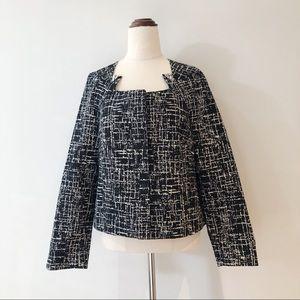 VERONIKA MAINE Black Cream Tailored Jacket